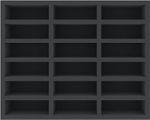 FSMEKT060BO 60 mm Full-Size foam tray with 18 compartments