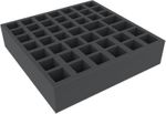 AFMEKR065BO  285 mm x 285 mm x 65 mm foam tray for board game – 45 compartments