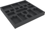 AFMEKS030BO 285 mm x 285 mm x 30 mm foam tray for board game accessories – 18 compartments