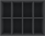 FSMEFC090BO 90 mm Full-Size foam tray with 8 compartments