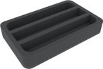 HSMELM040BO 40 mm foam tray with 3 compartments each 40 mm