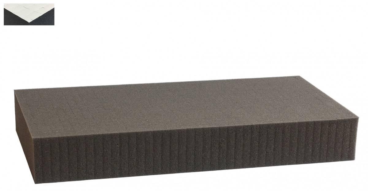 1300 mm x 600 mm x 70 mm Rasterschaumstoff Würfelschaum selbstklebend - Rasterweite 15 mm