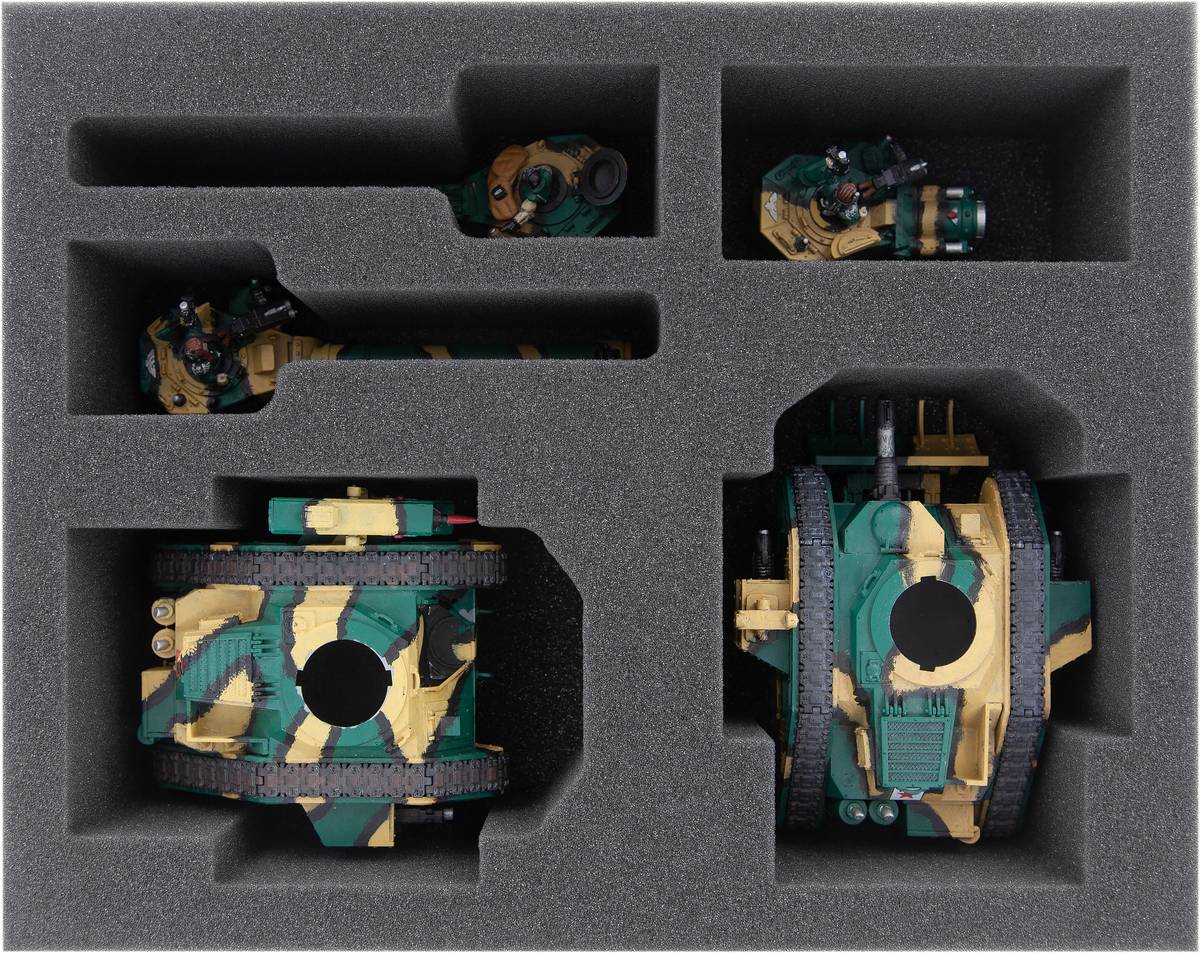 FSMELZ080BO Feldherr Schaumstoffeinlage für Leman Russ Battle Tanks