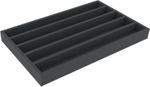 DS050A002 Foam inlay H0-gauge horizontal 5 slots for model railway locomotives, wagons and vehicles