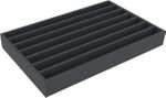 DS065A001 Foam inlay H0-gauge horizontal 7 slots for model railway locomotives, wagons and vehicles