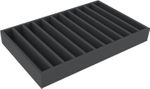 DS065A002 Foam inlay H0-gauge horizontal 11 slots for model railway locomotives, wagons and vehicles