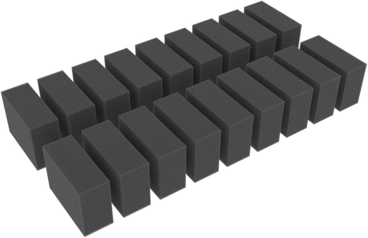 18 Distanzstücke / Schaumstoffquader / Schaumstoffblöcke 55 mm x 40 mm x 20 mm