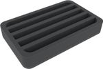 HSMELG040BO 40 mm foam tray with 5 compartments each 20 mm