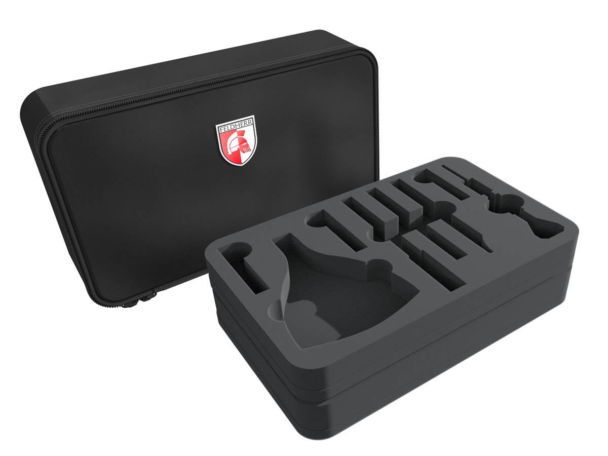 Feldherr MINI Tasche für Bastelwerkzeuge + Farbfläschchen + Pinsel