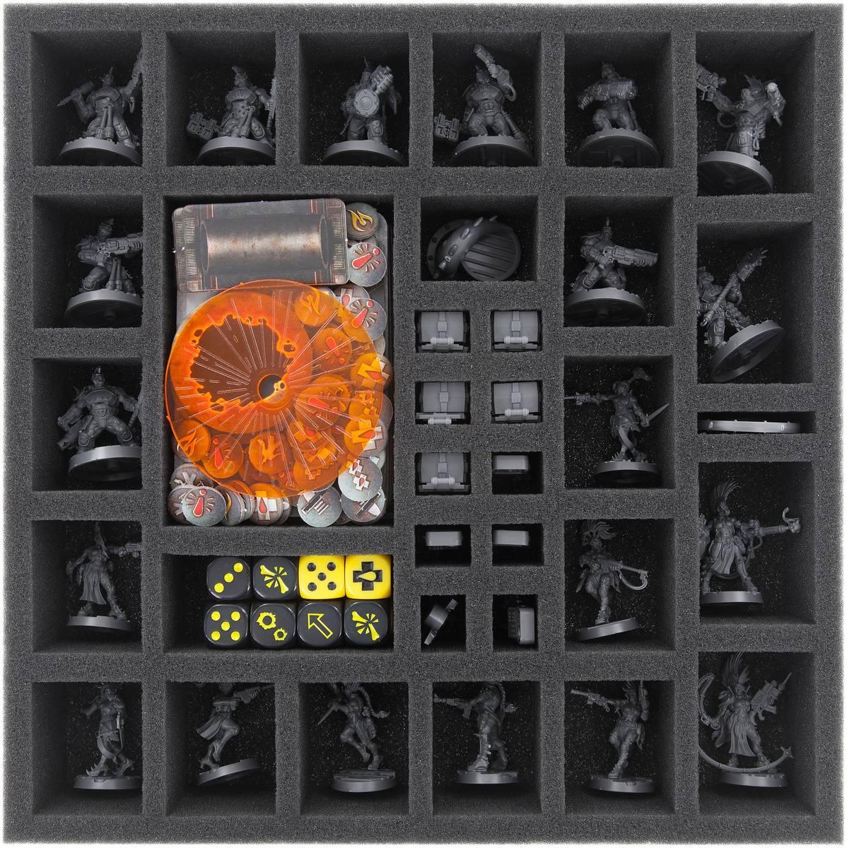 BS050A001 Taca piankowa Feldherr do Necromunda - pudełko do gier planszowych.
