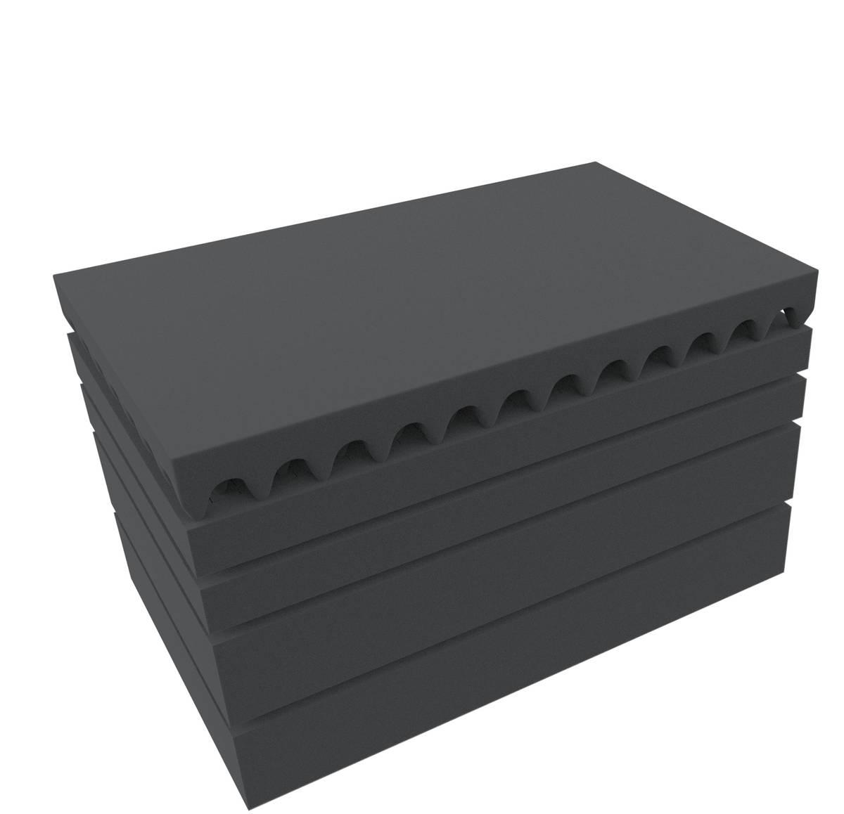 Feldherr Rasterschaumstoff für Auer Packaging Eurobehälter / Euro Box mit Scharnierdeckel / Koffer ED 64/27