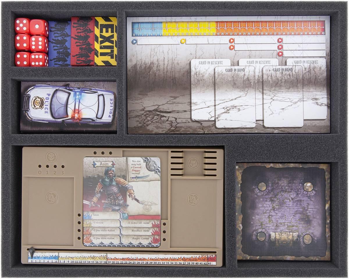 FS035A002 Feldherr Schaumstoffeinlage für Zombicide und Black Plague - 5 Fächer
