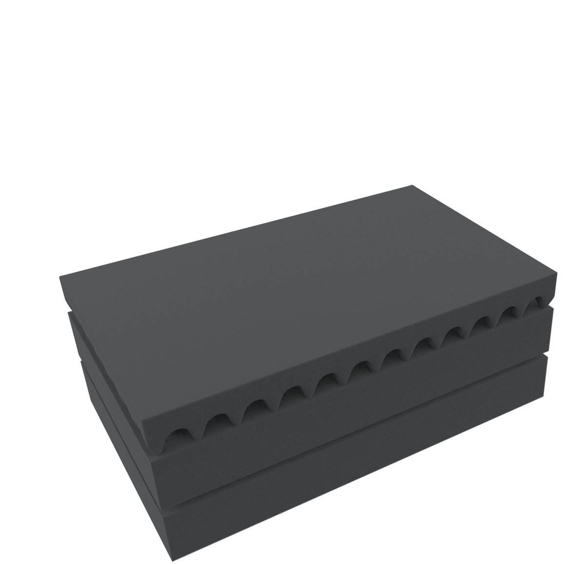 Feldherr Rasterschaumstoff für Auer Packaging Eurobehälter / Euro Box mit Scharnierdeckel / Koffer ED 64/17