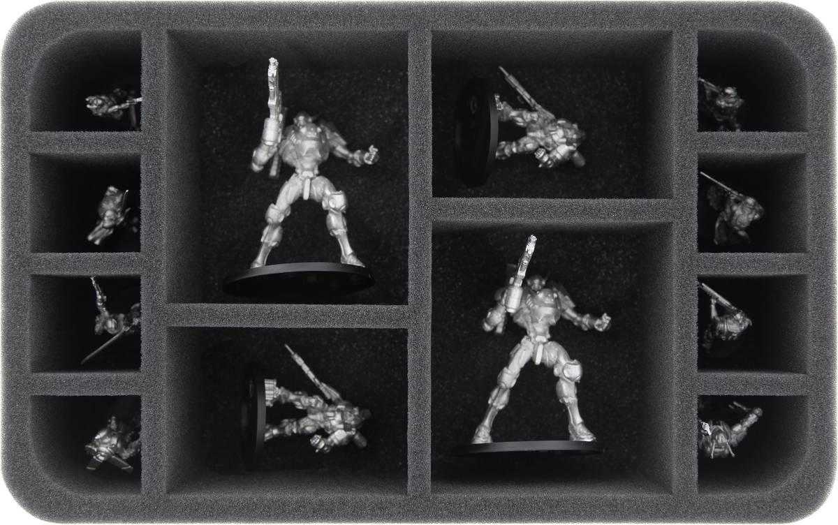 HS075A006 Feldherr Schaumstoffeinlage für Infinity The Game - 12 Miniaturen