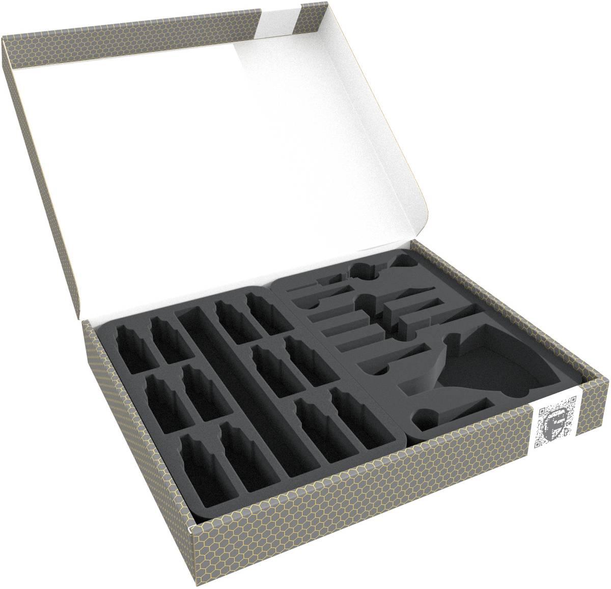Feldherr Lagerbox FSLB040 für Bastelwerkzeuge + Farbfläschchen + Pinsel