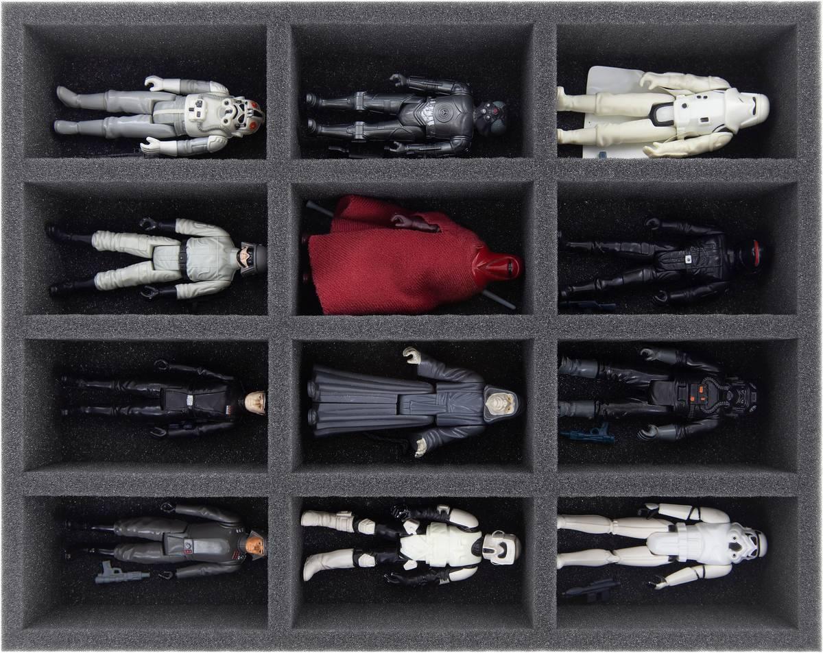 FS055A002 Feldherr Schaumstoffeinlage für Star Wars Vintage - 12 Fächer