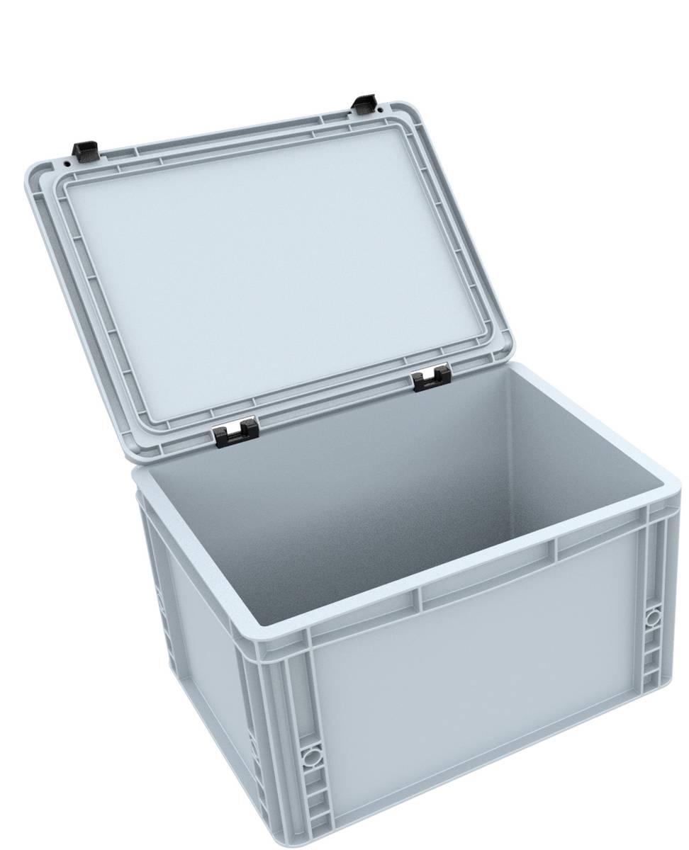 DDEB215 Eurobehälter / Euro Box mit Scharnierdeckel ED 43/22 HG