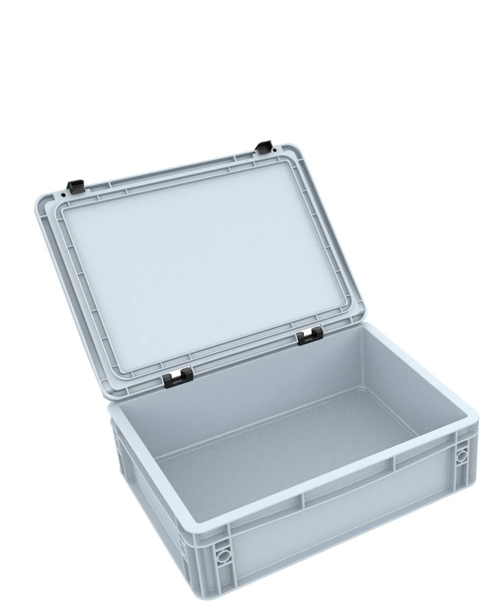 DDEB115 Eurobehälter / Euro Box mit Scharnierdeckel ED 43/12 HG