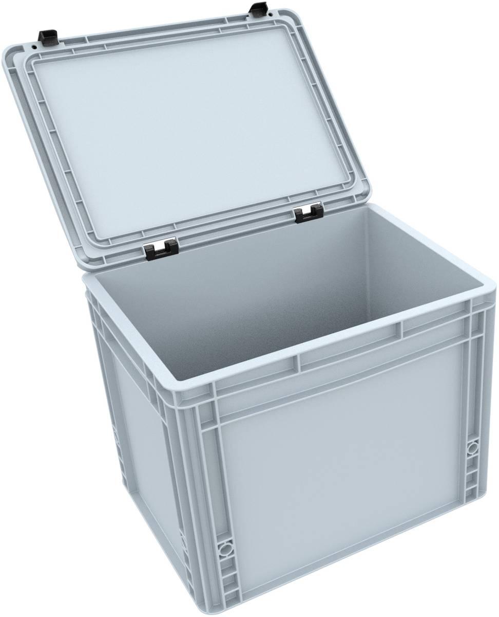 DDEB305 Eurobehälter / Euro Box mit Scharnierdeckel ED 43/32 HG