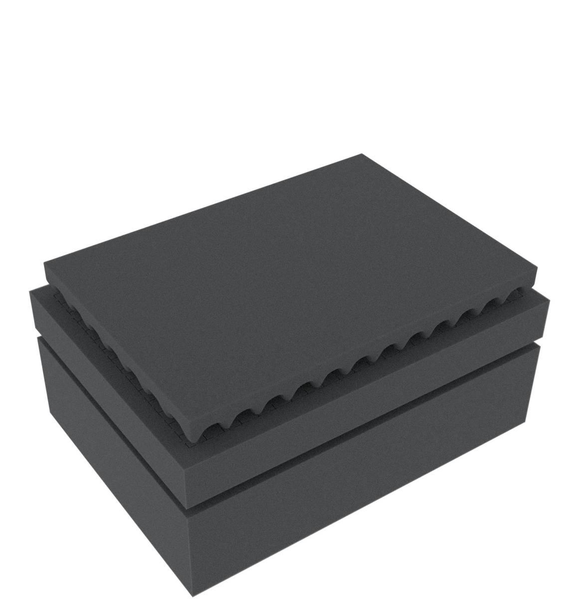 Feldherr Rasterschaumstoff für Auer Packaging Eurobehälter / Euro Box mit Scharnierdeckel / Koffer ED 43/17