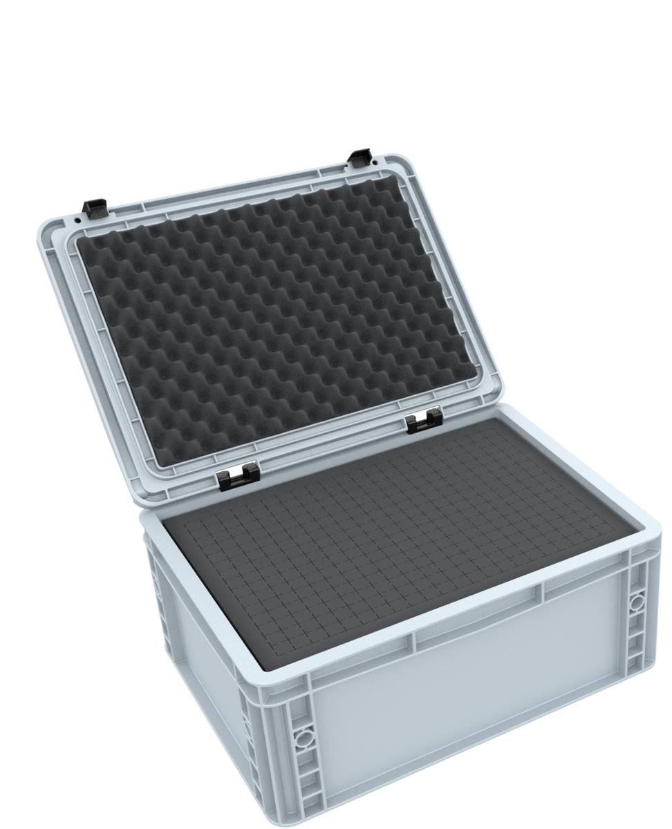 ED 43/17 HG Eurobehälter / Euro Box mit Scharnierdeckel 400 x 300 x 185 mm inklusive Rasterschaumstoff