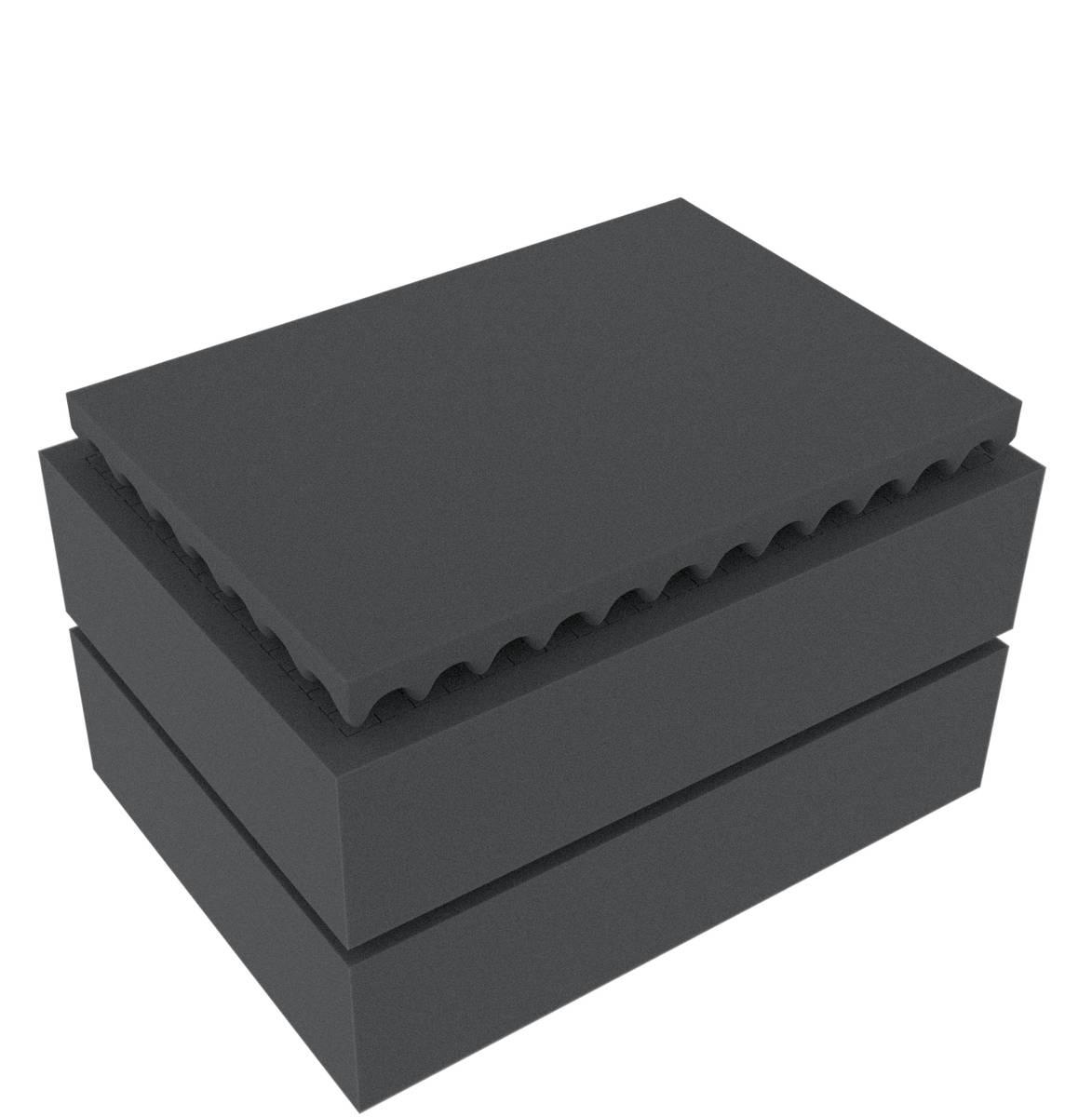 Feldherr Rasterschaumstoff für Auer Packaging Eurobehälter / Euro Box mit Scharnierdeckel / Koffer ED 43/22
