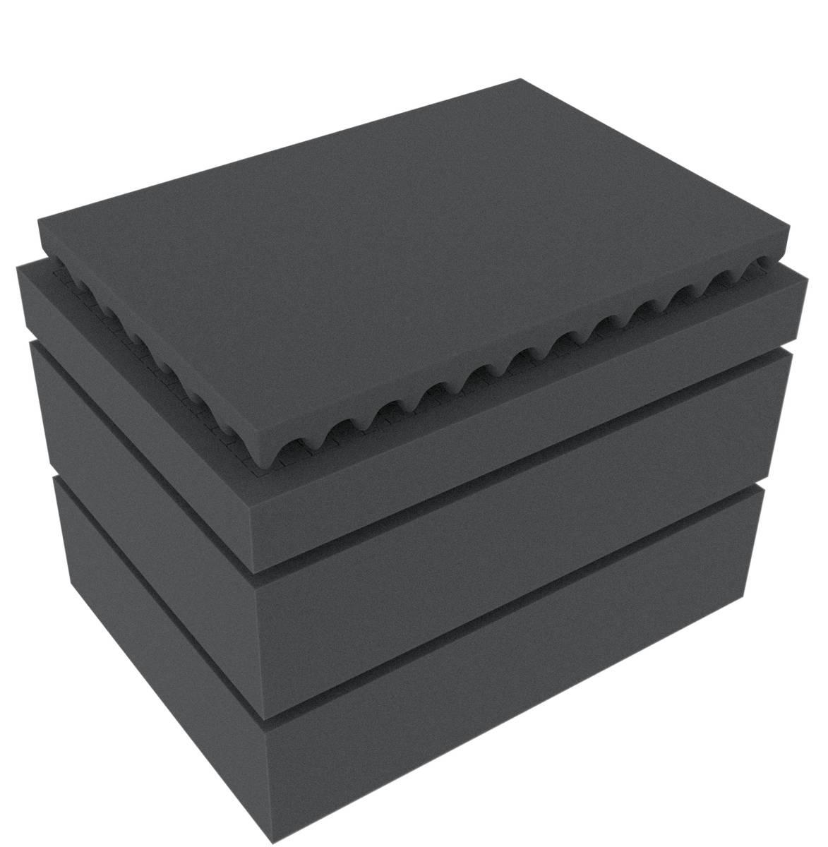 Feldherr Rasterschaumstoff für Auer Packaging Eurobehälter / Euro Box mit Scharnierdeckel / Koffer ED 43/27