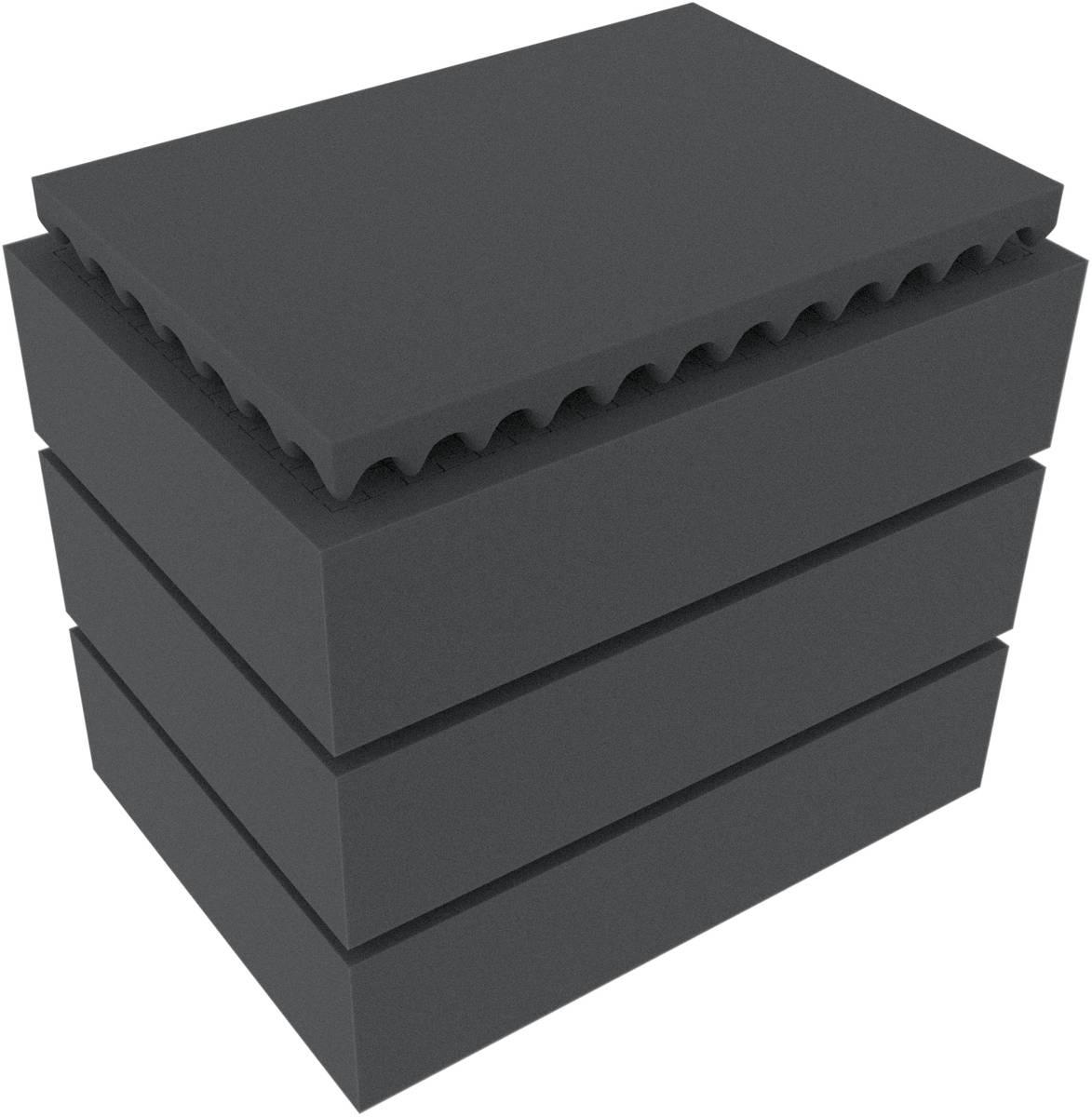 Feldherr Rasterschaumstoff für Auer Packaging Eurobehälter / Euro Box mit Scharnierdeckel / Koffer ED 43/32