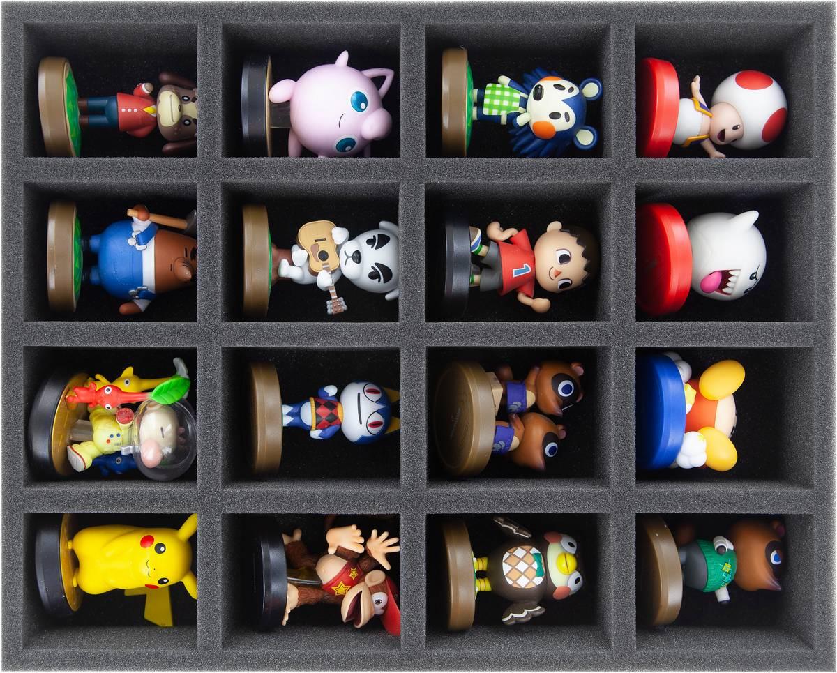 FS060A003 Feldherr Schaumstoffeinlage für Nintendo Amiibos - 16 Fächer