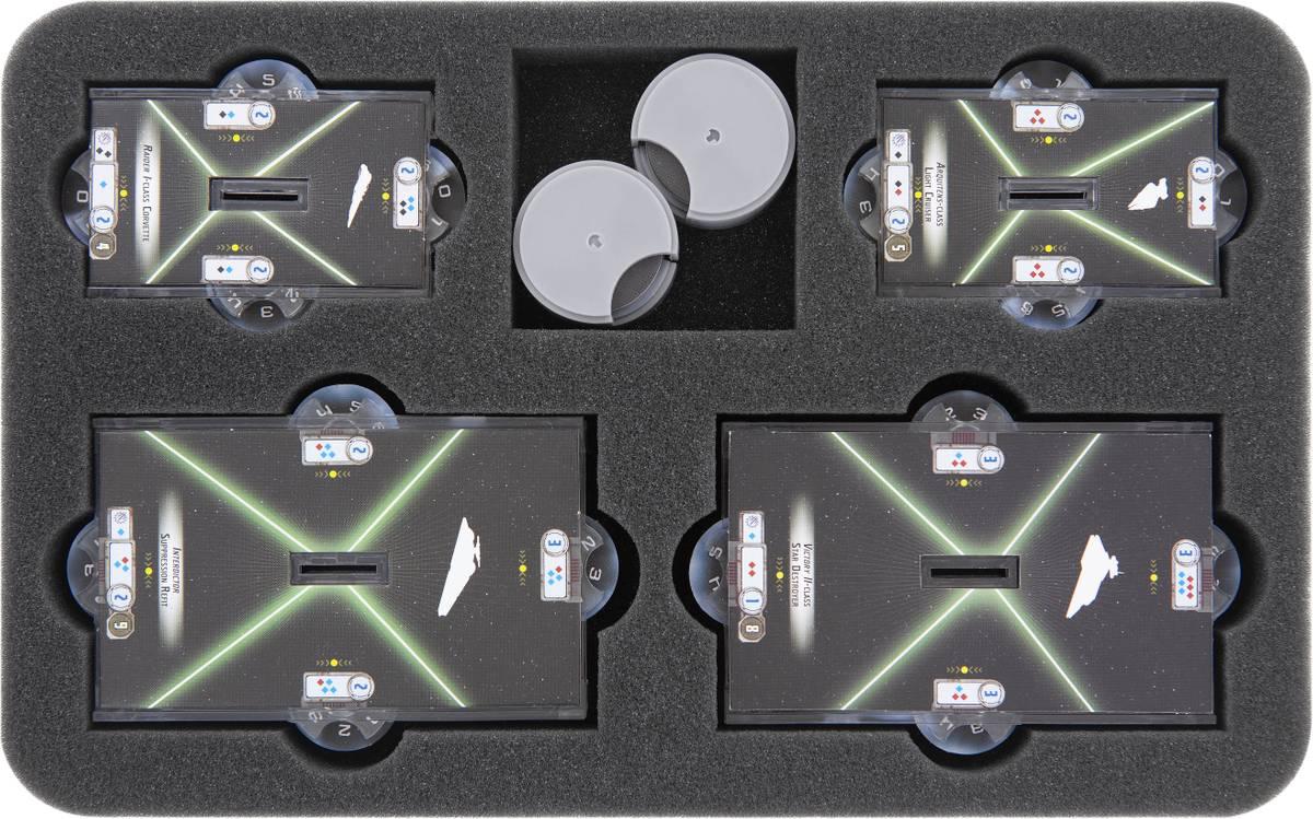 HS030A004 Feldherr Schaumstoffeinlage für Star Wars Armada - kleine und mittlere Bases