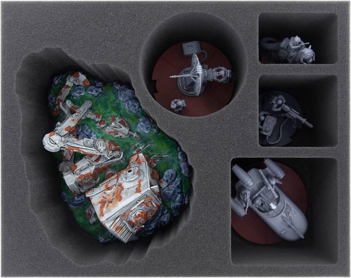 FSMEQF095BO Feldherr Schaumstoffeinlage für Star Wars Legion: Zerstörter AT-ST