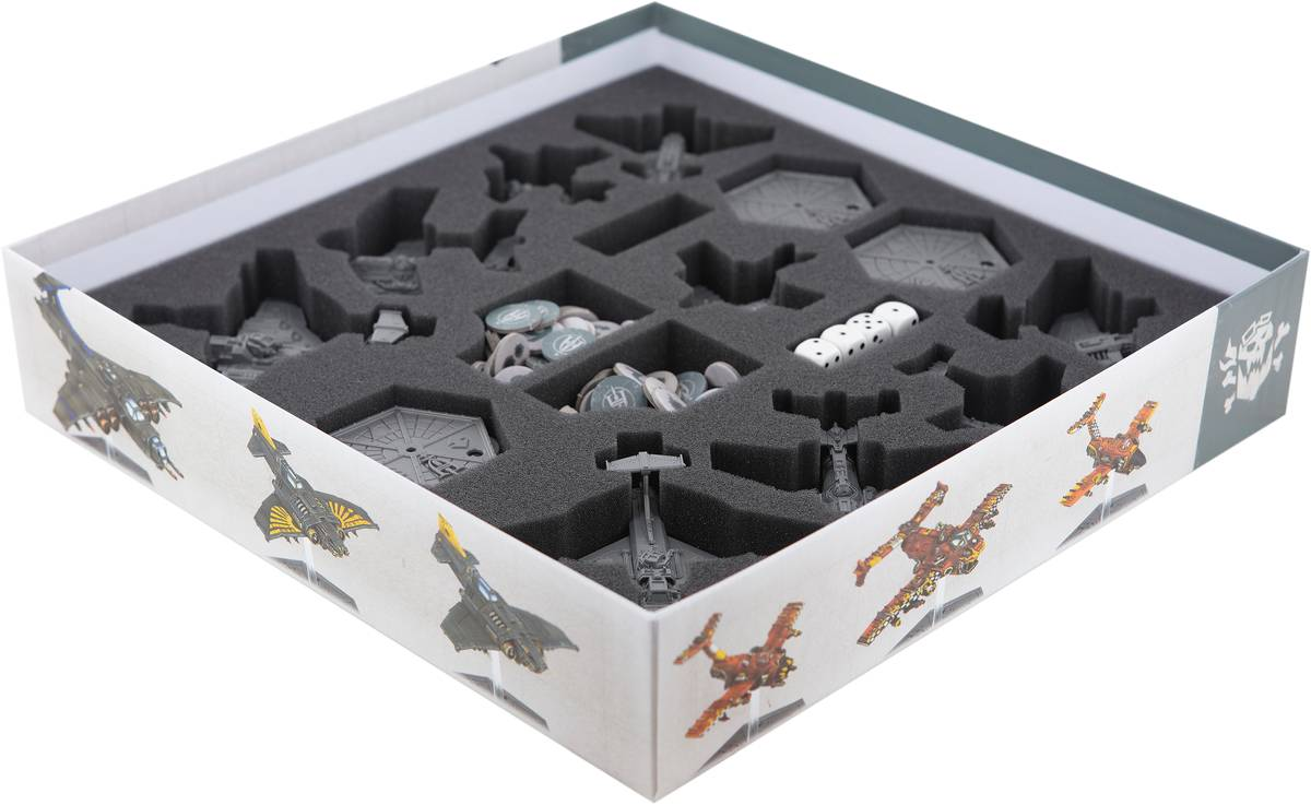 Feldherr Schaumstoff-Set für Aeronautica Imperialis: Wings of Vengeance Brettspielbox