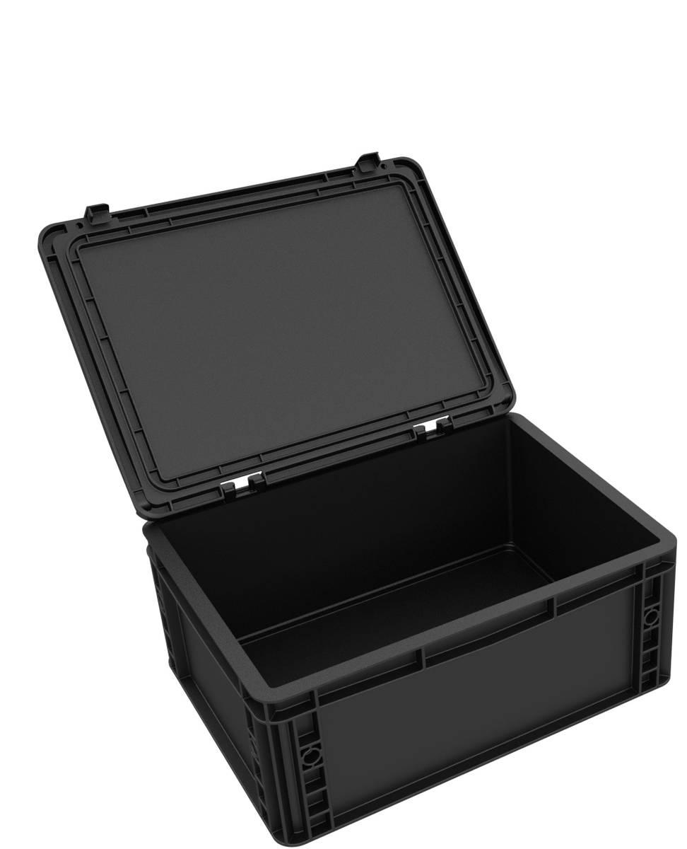 DDEB165ESD Eurobehälter / Euro Box mit Scharnierdeckel ESD ED 43/17 HG