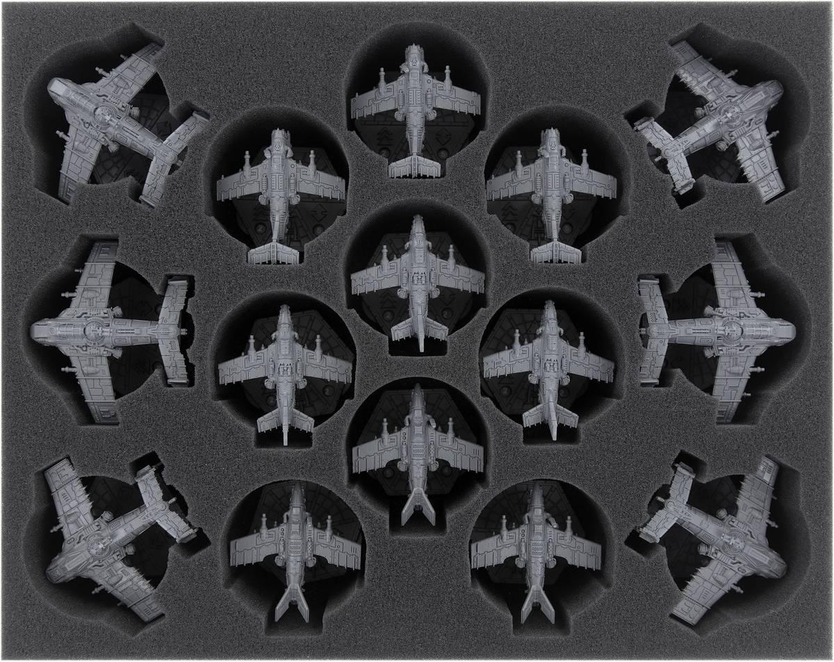 FSMERG070BO Feldherr Schaumstoffeinlage für Aeronautica Imperialis: Ork-Luftwaaagh - Geschwader auf Flugbases