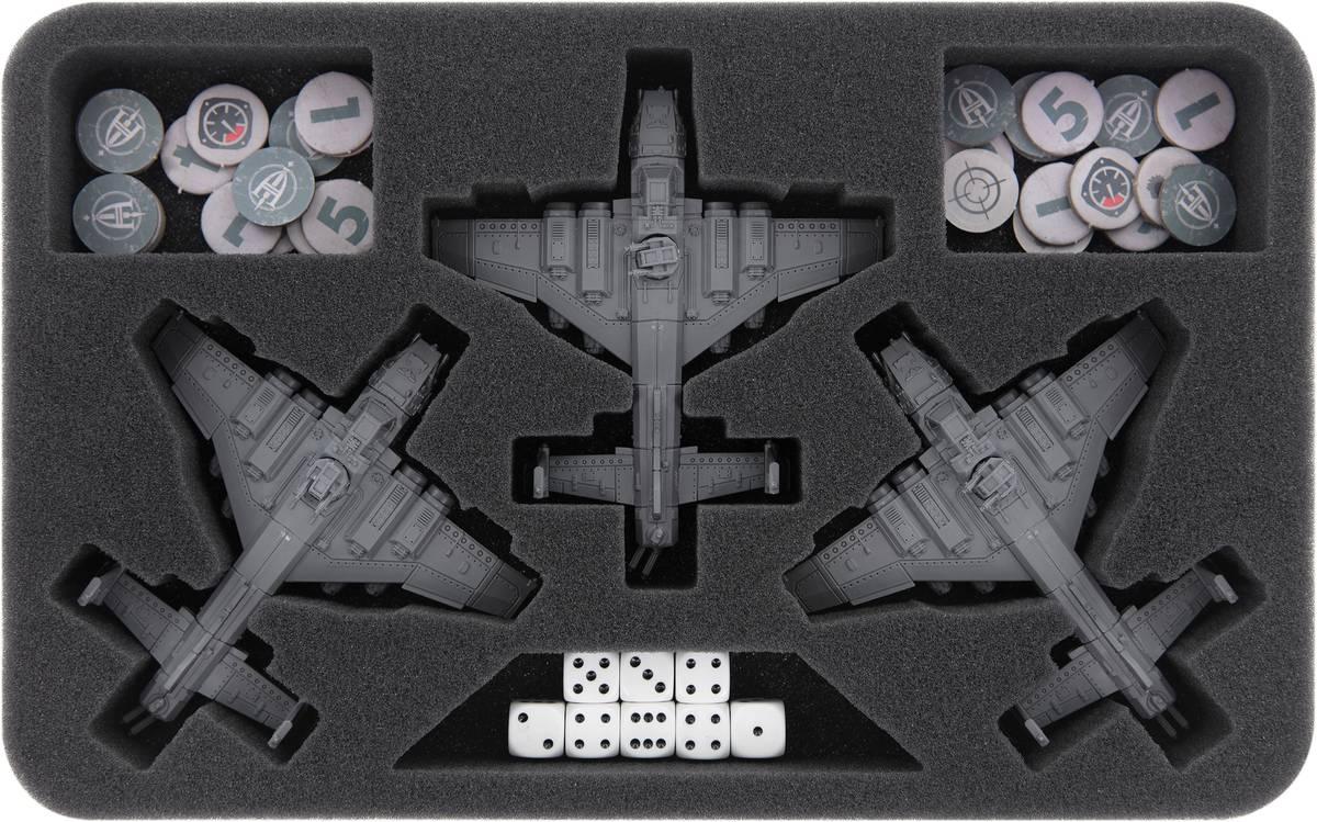 HSMERI035BO Feldherr Schaumstoffeinlage für Aeronautica Imperialis: Imperiale Kriegsflotte - Marauder Bombers / Destroyers