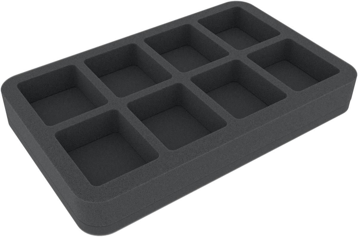 HS035A011 35 mm Schaumstoffeinlage für Miniaturen im Maßstab 1:100 (15 mm) - 8 Fächer
