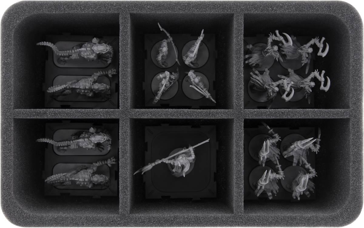 HS075A011 Feldherr Schaumstoffeinlage für Runewars: Miniaturenspiel - 6 Fächer