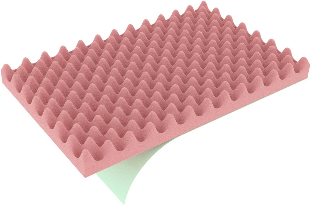 DFNP020ESDS 338 mm x 238 mm x 20 mm ESD convoluted foam tray, one-sided self-adhesive - electrostatic dissipative