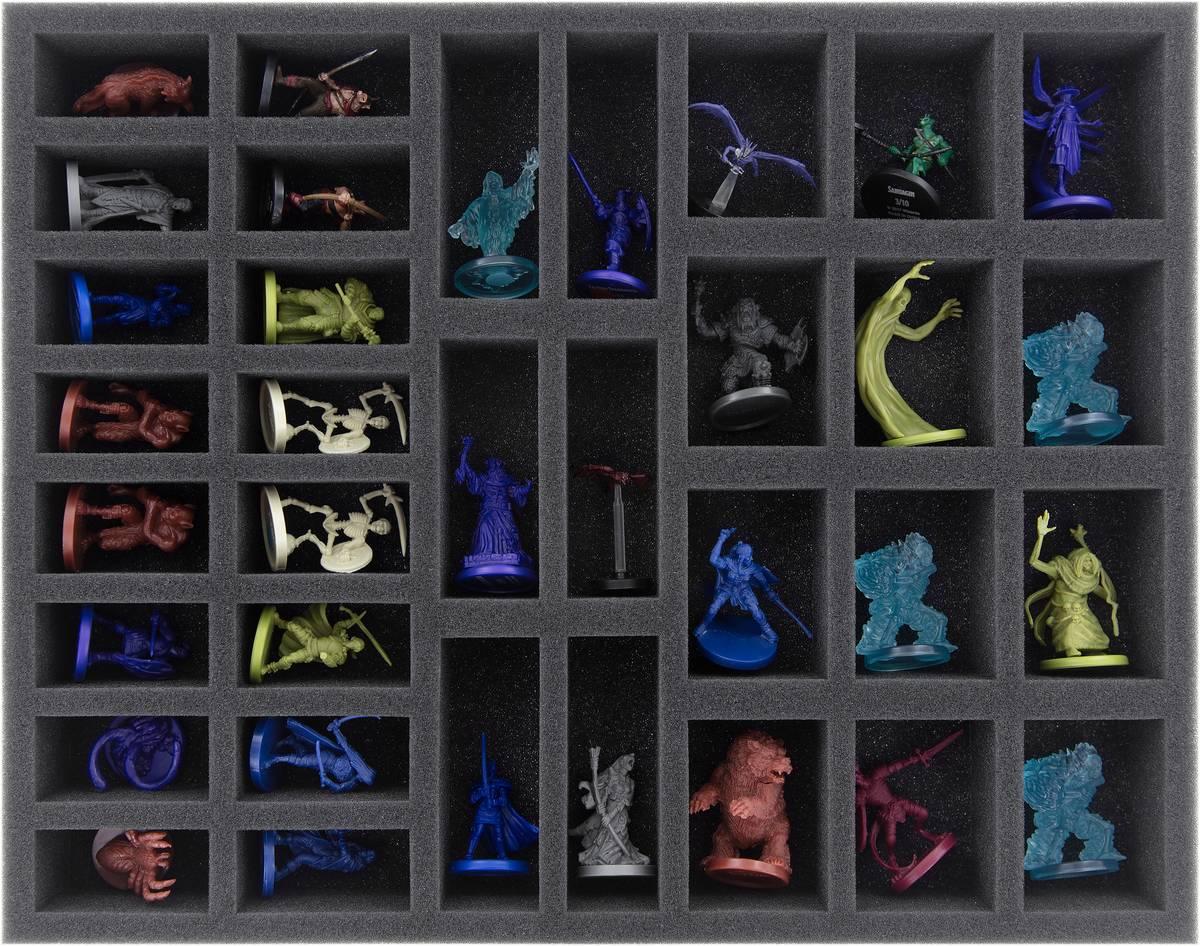 FS040A012 Feldherr Schaumstoffeinlage für Dungeons and Dragons - 34 Miniaturen