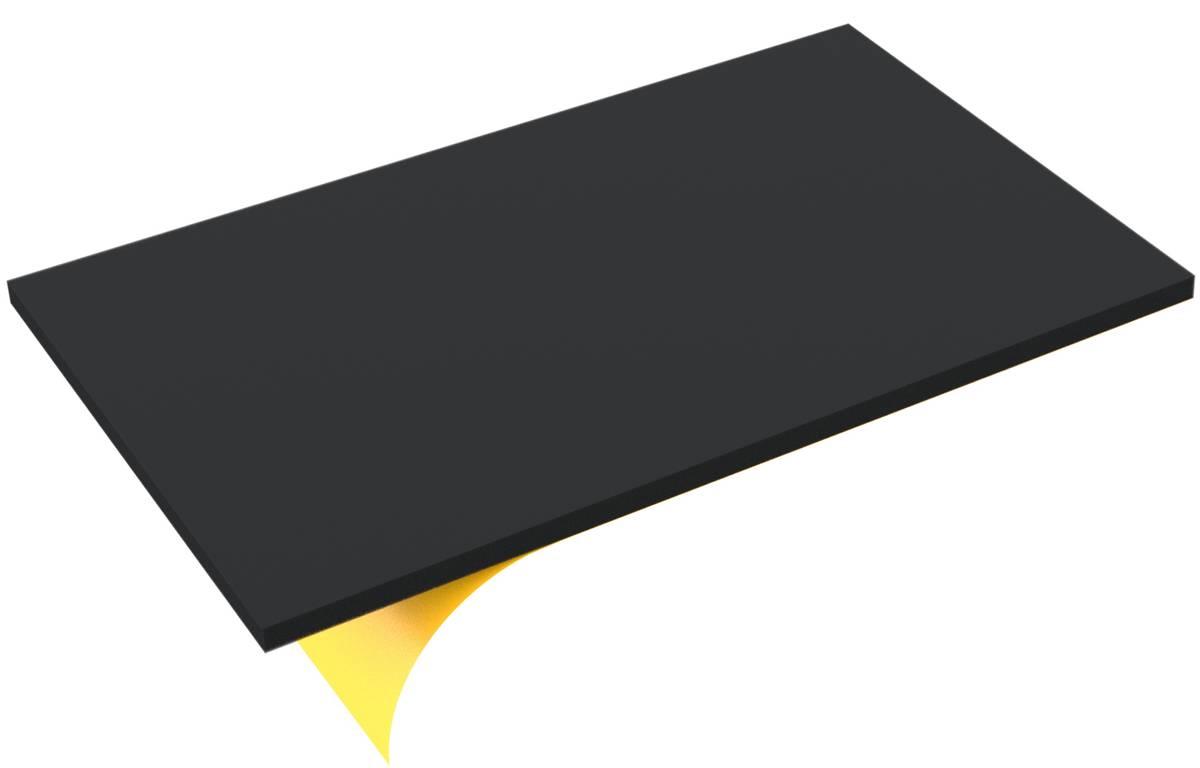 550 mm x 350 mm x 15 mm PE-Schaumstoffzuschnitt / Hartschaumstoff-Zuschnitt - selbstklebend