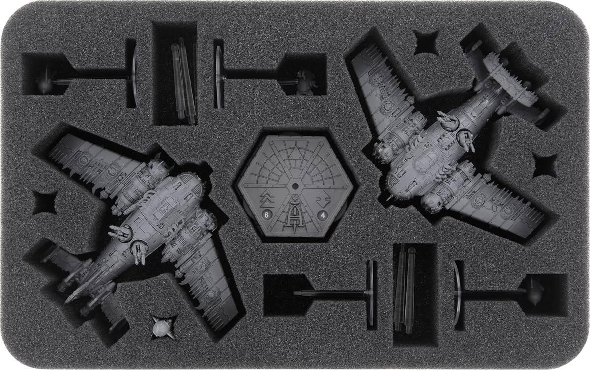 HSMEUF040BO Feldherr Schaumstoffeinlage für Aeronautica Imperialis: Ork Luftwaaagh - Grot Bommers