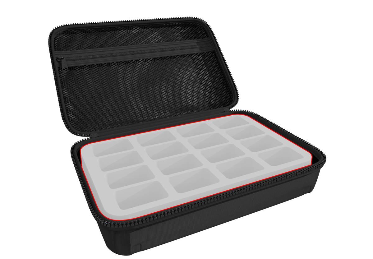 Feldherr Half-Size Case 50 individuell - 50 mm Half-Size Schaumstoffeinlagen nach Wahl