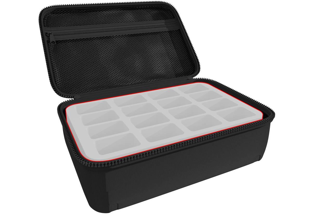 Feldherr Half-Size Case 90 individuell - 90 mm Half-Size Schaumstoffeinlagen nach Wahl