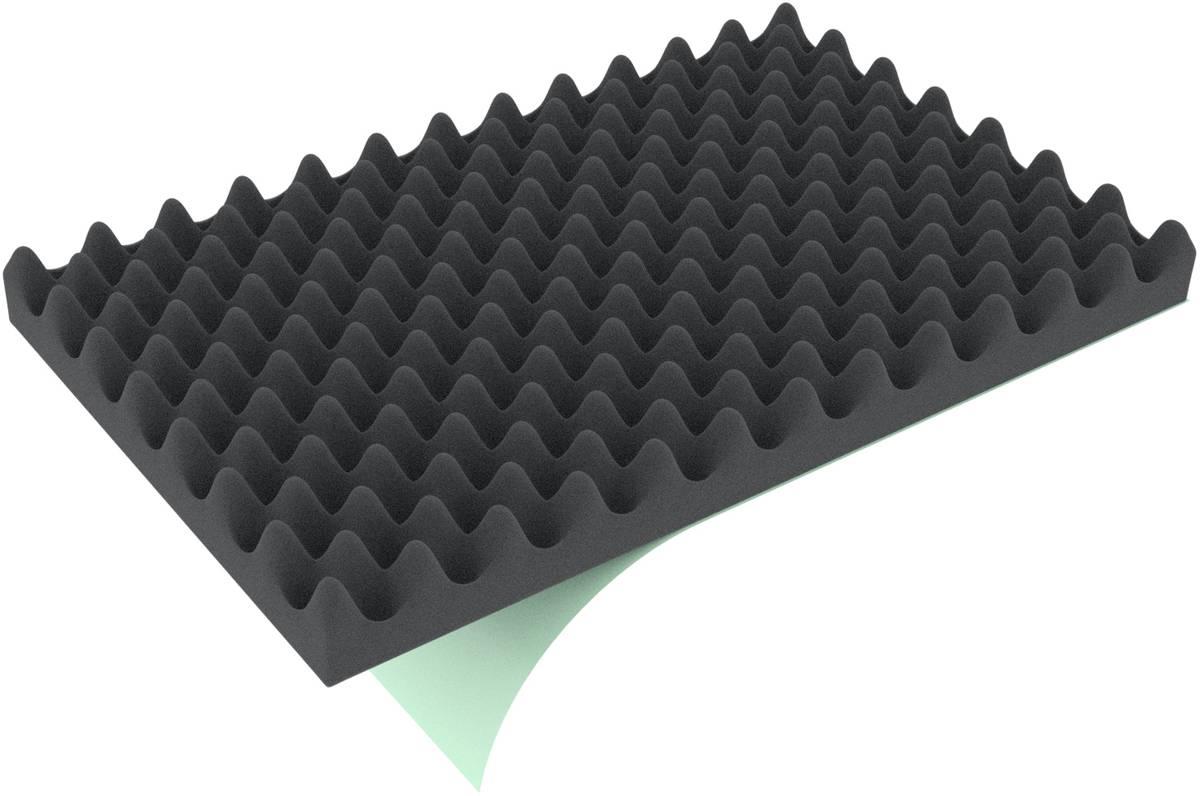 EFNP020S 725 mm x 525 mm x 20 mm Noppenschaum für Auer Box Scharnierdeckel 80x60 einseitig selbstklebend