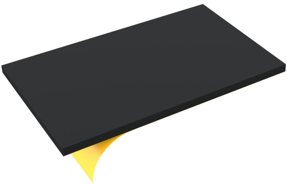 550 mm x 350 mm x 20 mm PE-Schaumstoffzuschnitt / Hartschaumstoff-Zuschnitt - selbstklebend
