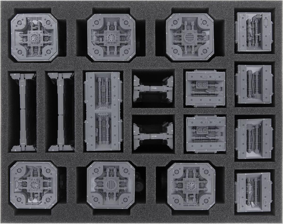 FSMEVS070BO Feldherr Schaumstoffeinlage für Necromunda: Säulen und Wände der Zone Mortalis