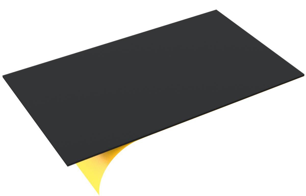 550 mm x 350 mm x 5 mm PE-Schaumstoffzuschnitt / Hartschaumstoff-Zuschnitt - selbstklebend