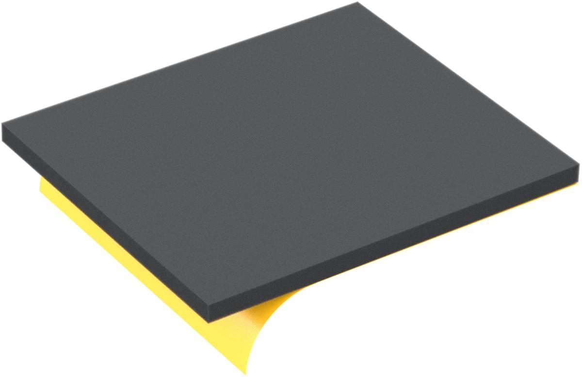 200 mm x 170 mm x 10 mm Schaumstoff-Zuschnitt / Schaumstoff Platte - selbstklebend