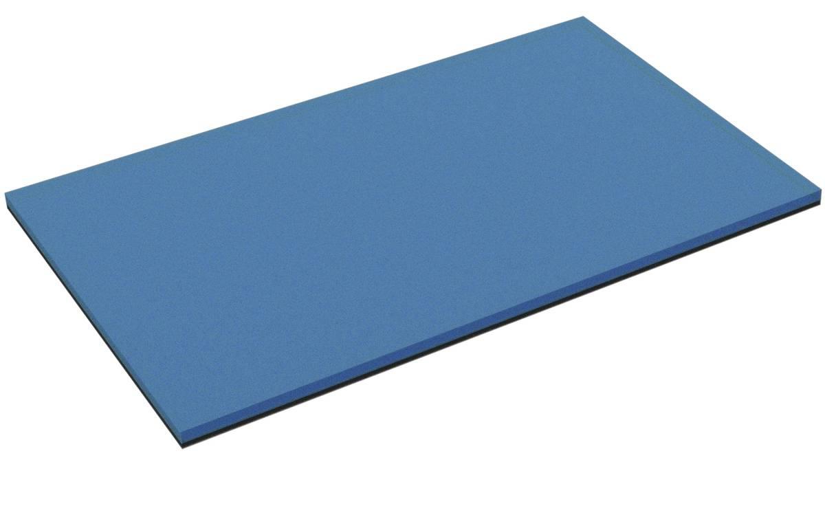550 mm x 350 mm x 15 mm PE-Schaumstoffzuschnitt / Hartschaumstoff-Zuschnitt - zweifarbig