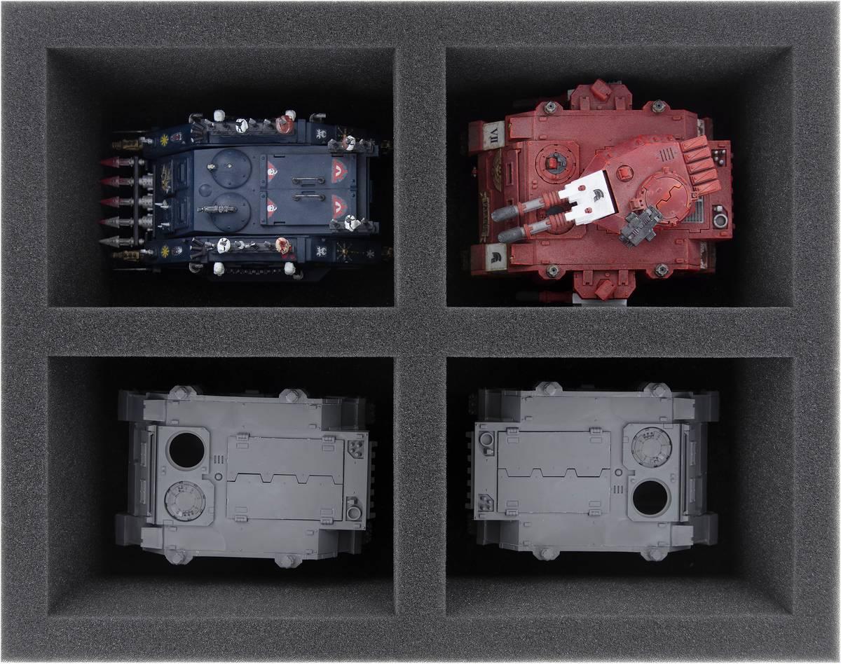 FS090A004 Feldherr foam tray for Warhammer 40,000 - 4 compartments